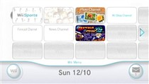 The default Wii Menu layout