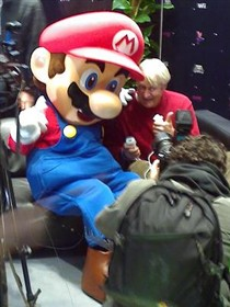 Mario Promotes his New Game in the UK