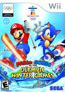 Mario & Sonic at Vancouver Olympics Box Art