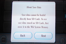 Game Developers Conference 2009: Wii SD Card Menu - Save Data Information