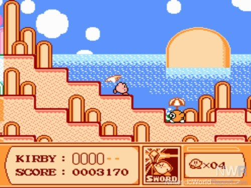 kirbys adventure the 1993 nes release holds up very well this is the game where kirby came together as a character there is a world map to explore