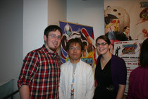 NWR's Neal Ronaghan and Lauren Lewandoski with Capcom's Ryota Niitsuma