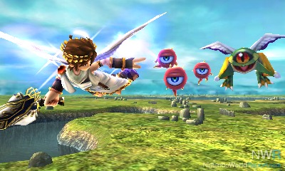 Chapters In Kid Icarus Uprising Are Split Into Airborne And Ground Based Sections Culminating A Boss Battle The On Rails Sky Highly