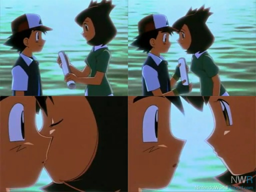 ash and misty kiss the girl № 334799
