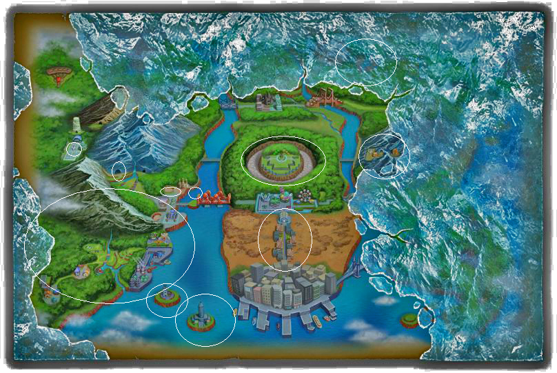 Pokmon black and white version 2 preview preview nintendo world see between the old map and the new one gumiabroncs Gallery