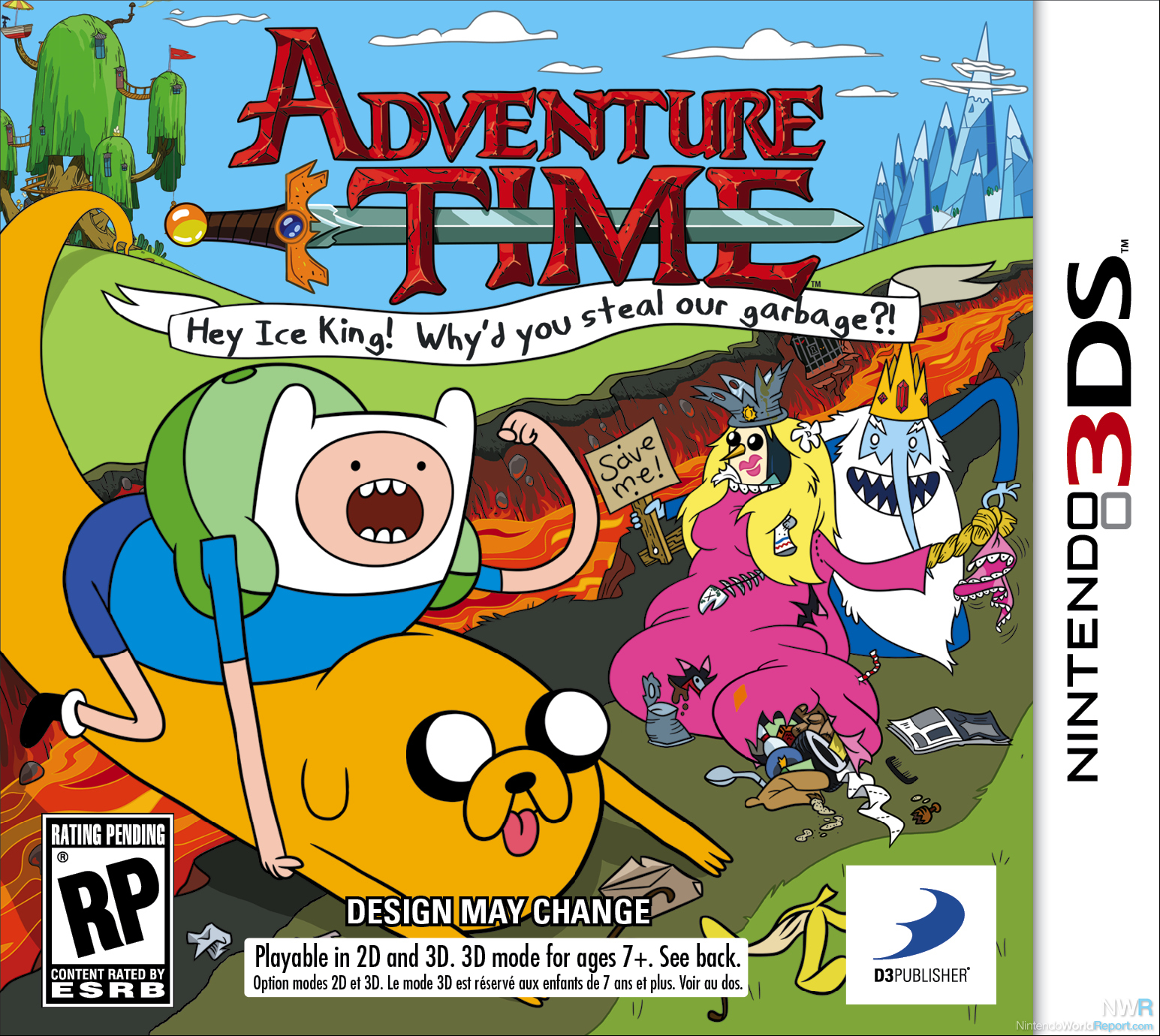 Adventure Time Hey Ice King Whyd you steal our garbage