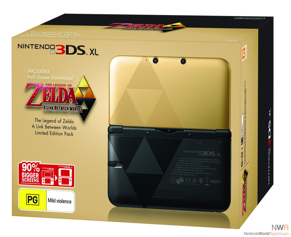 special edition zelda 3ds xl coming to australia and new. Black Bedroom Furniture Sets. Home Design Ideas
