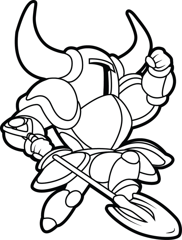 Shovel Knight Free Coloring Pages