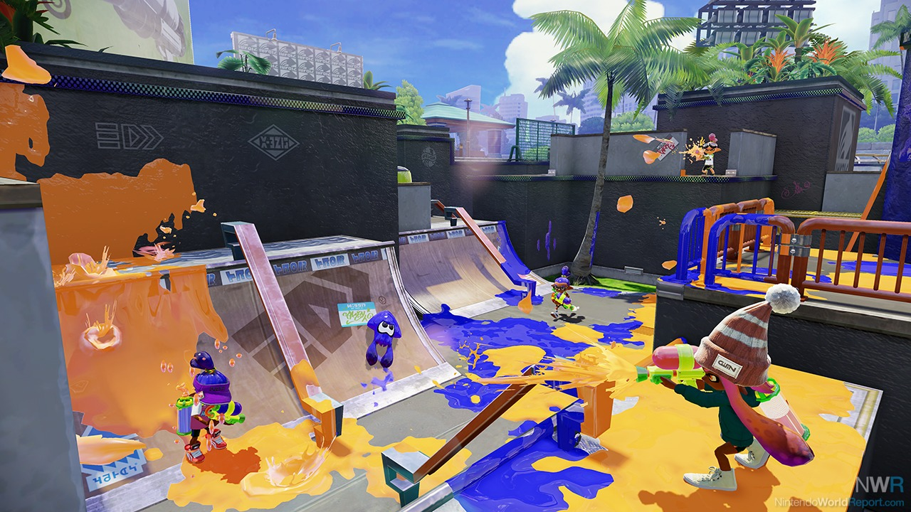 new splatoon details include new online mode maps no voice chat