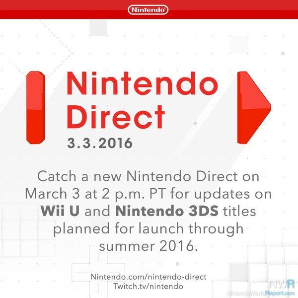 nintendo direct announced march 3 news nintendo world report