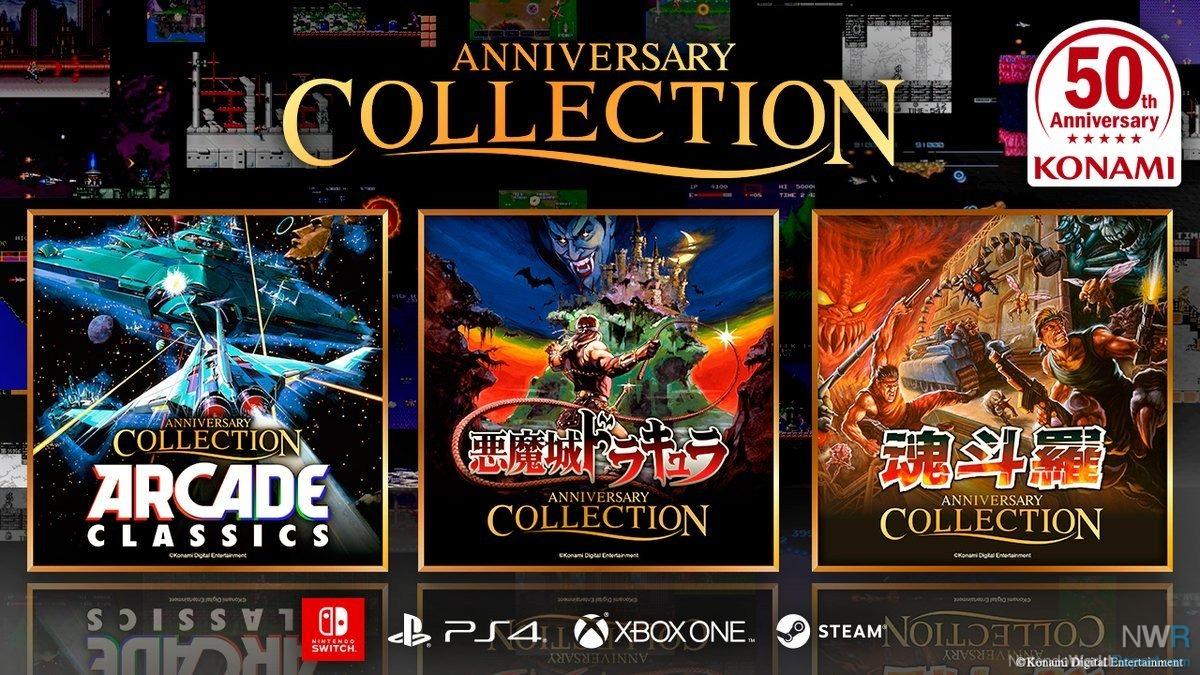 Konami Announces Three Classic Collections: Arcade, Castlevania, Contra