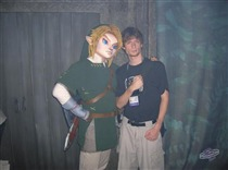 Mike Sklens poses with Link