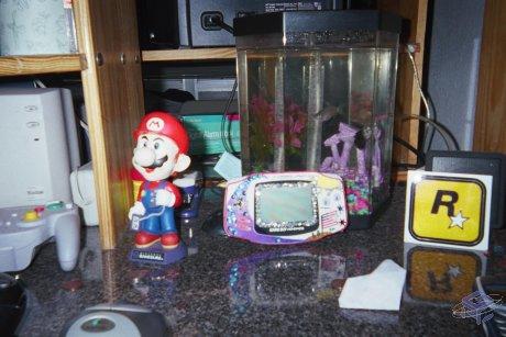 Obi's GBA on his desk