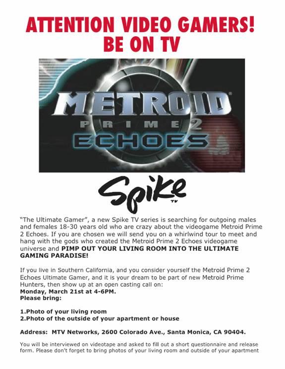 Spike TV: Metroid Prime 2 Echoes Ultimate Gamer