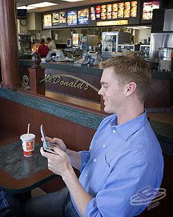 Wayport-enabled McDonald's Restaurant