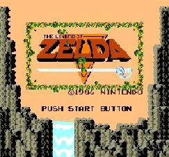Zelda title screen (NES)