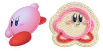 Kirby is happy as yarn