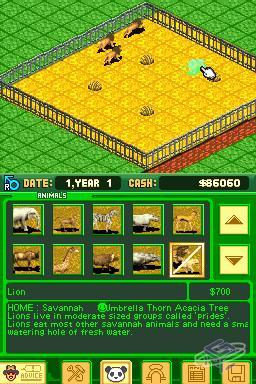 Zoo Tycoon DS - Game - Nintendo World Report