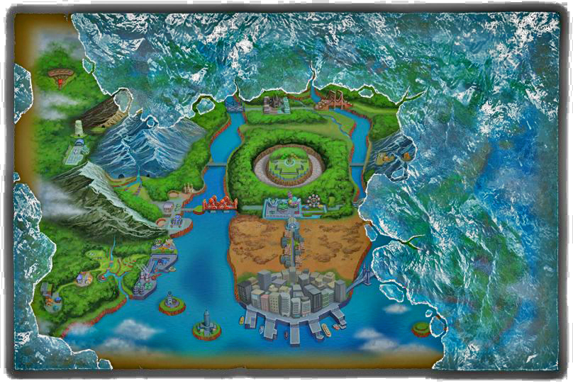Pokemon Black And White Version 2 Preview Aspertia city, floccesy town and virbank city, with routes 19 and relic passage is a tunnel connecting the pwt, relic castle, and the castelia sewers. nintendo world report
