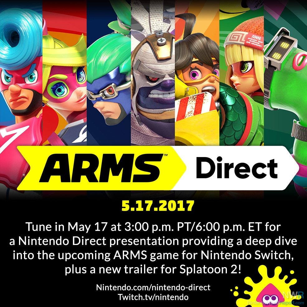 ARMS & Splatoon 2 Will Highlight Tomorrow's Nintendo Direct