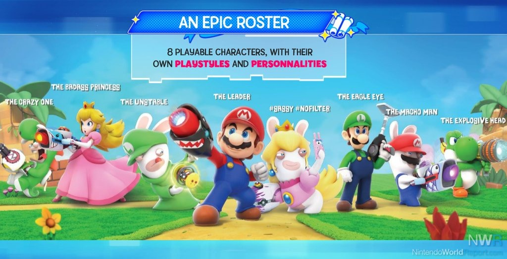 Leaked artwork for Mario + Rabbids Kingdom Battle pops up online - rumor