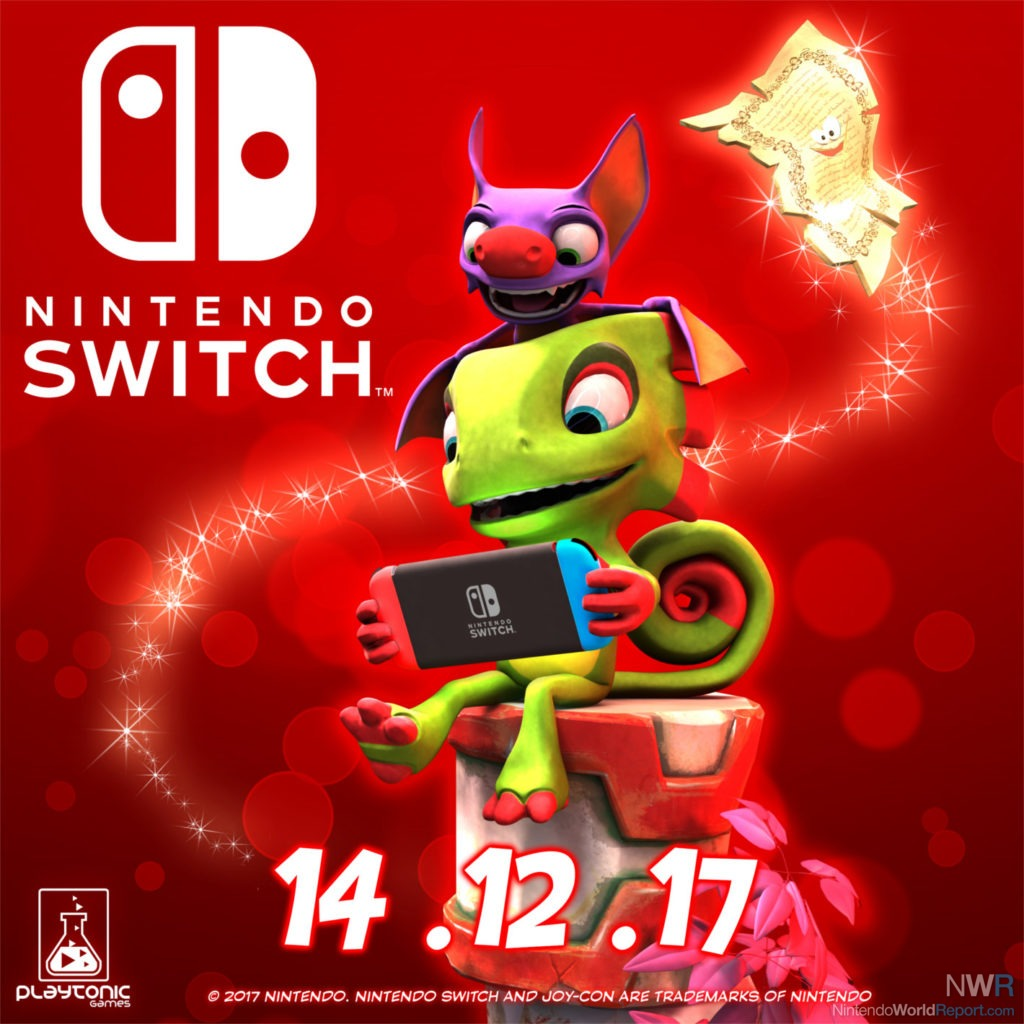 Yooka-Laylee heading to the Nintendo Switch on December 14
