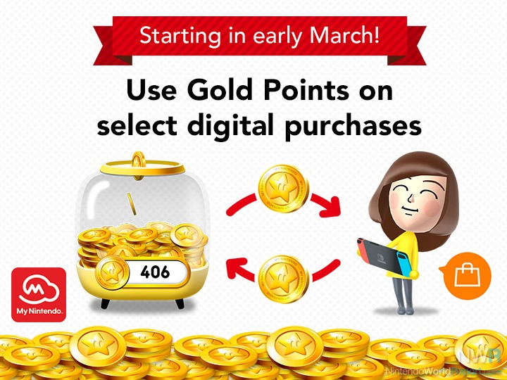Redeem Gold Points for eligible digital purchases for the Nintendo Switch system!