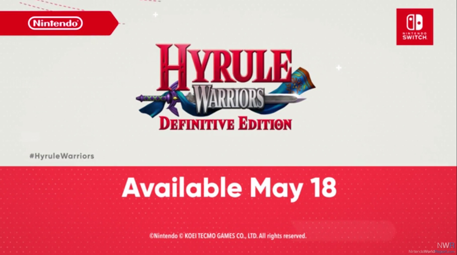 Hyrule Warriors: Definite Edition to release for Nintendo Switch on May 18th