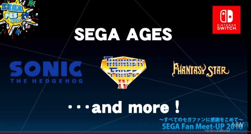 Sega Ages Bringing Classics To Switch Beginning In Summer 2018