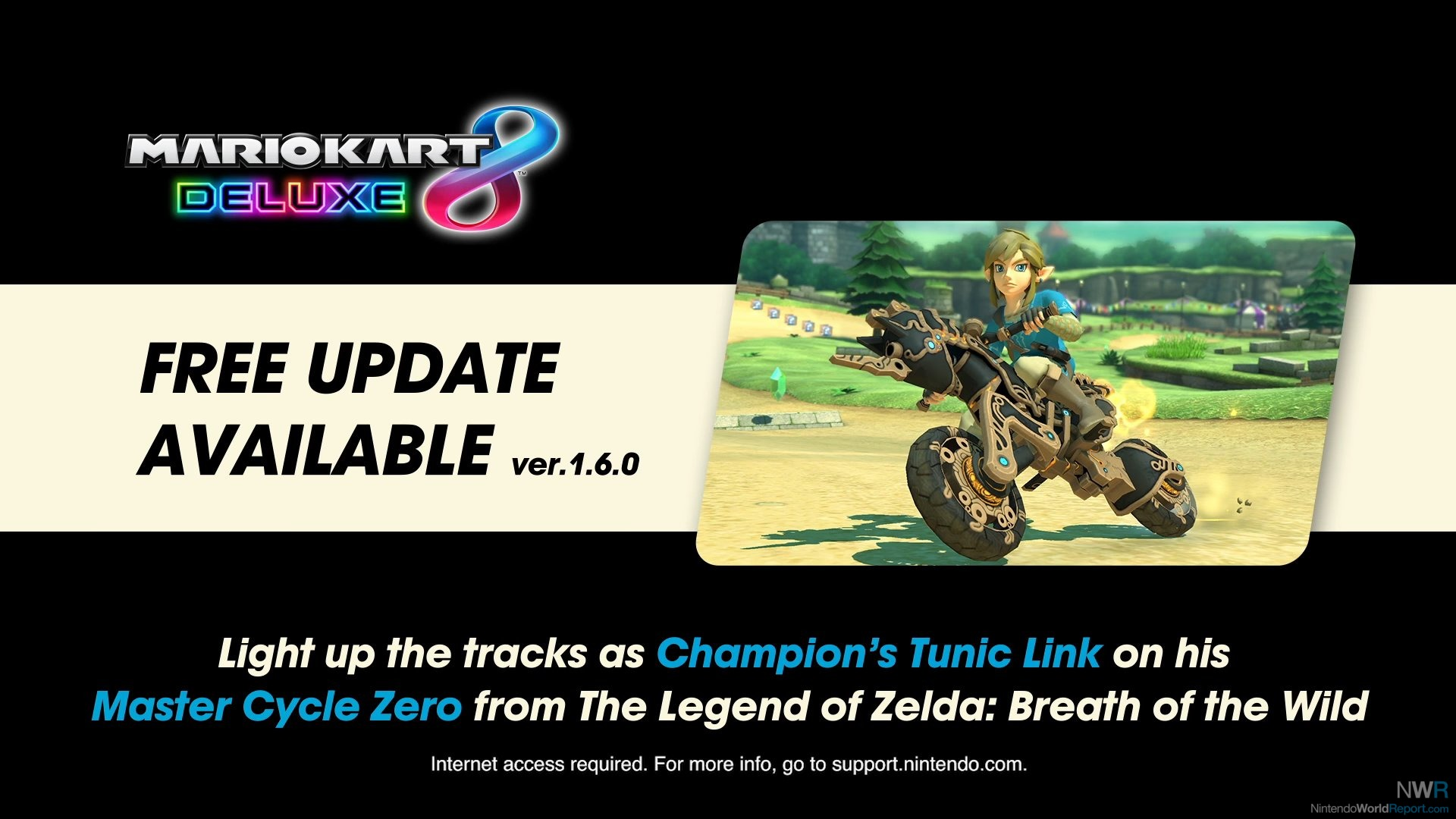 Mario Kart 8 Adds Breath of the Wild Link, Master Cycle Zero
