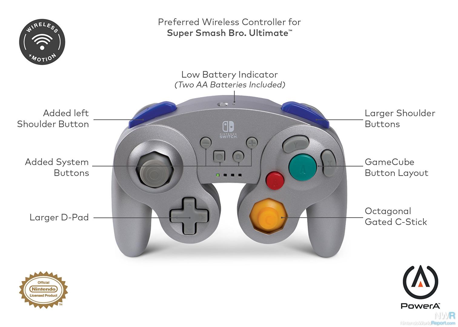 Powera Wireless Controller For Nintendo Switch Gamecube