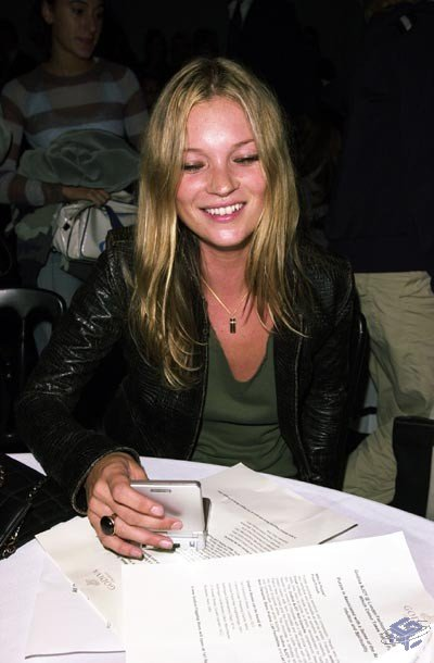 Kate Moss gives her GBA SP a little love