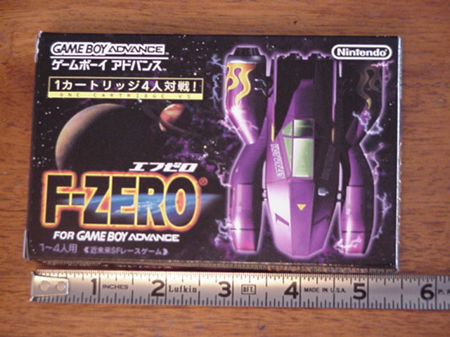 F-Zero Box and Ruler